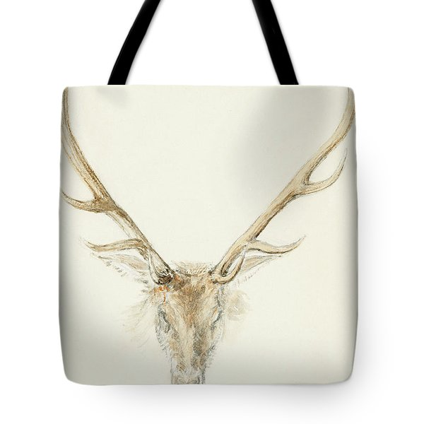 A Stag Shot By John Brown Tote Bag