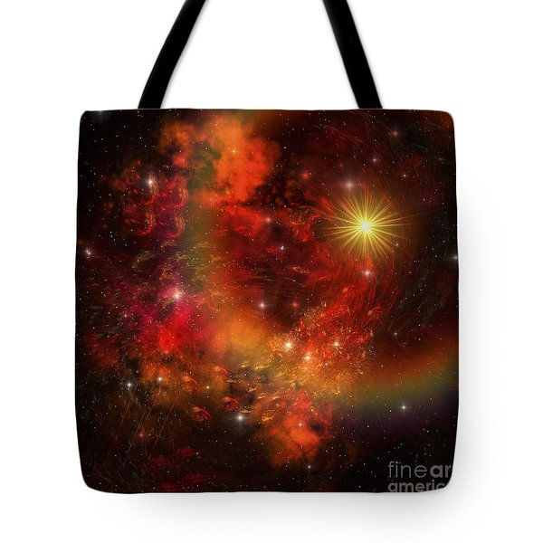 A Star Explodes Sending Out Shock Waves Tote Bag by Corey Ford