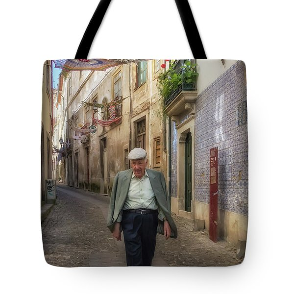 A Stoll In Coimbra Tote Bag by Patricia Schaefer