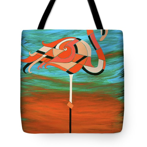 A Straight Up Flamingo Tote Bag