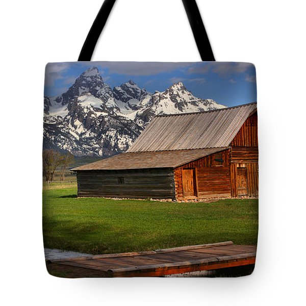 A Stream Runs By It Tote Bag by Adam Jewell