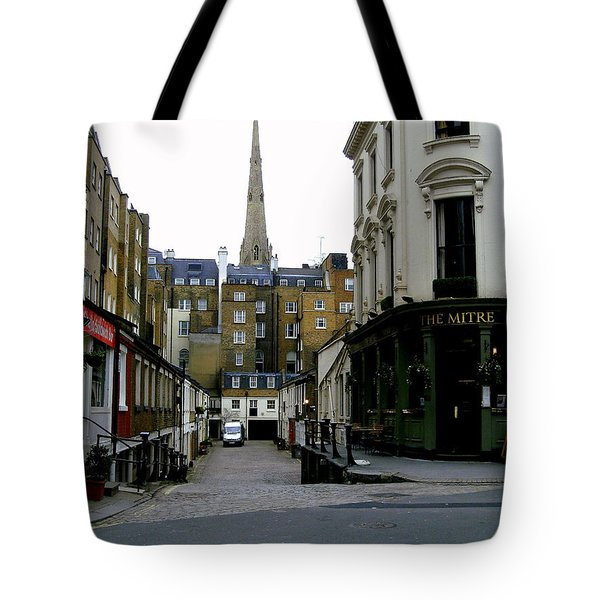 A Street In London Tote Bag by Mindy Newman