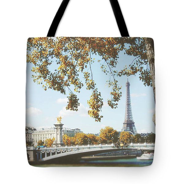 Tote Bag featuring the photograph A Stroll Along The River Seine In Paris by Ivy Ho