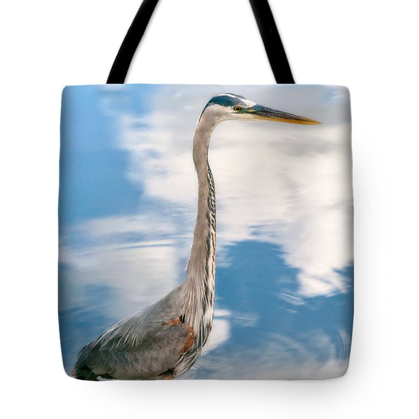 Tote Bag featuring the photograph A Stroll Among The Clouds by Christopher Holmes