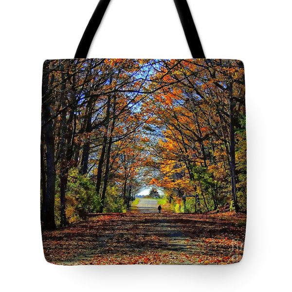 A Stroll Through Autumn Colors Tote Bag