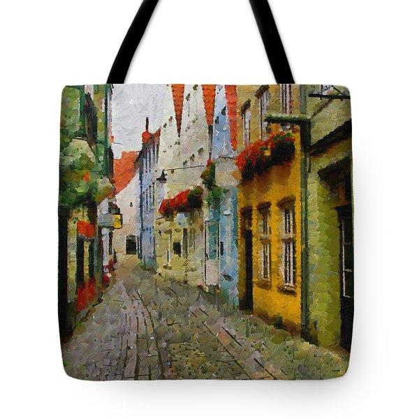 A Stroll Through The Street Tote Bag