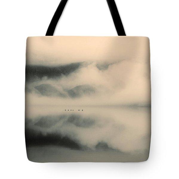 A Study Of Clouds Tote Bag by Tara Turner