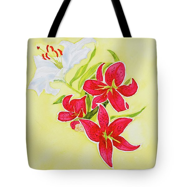 A Study Of Lilies Tote Bag