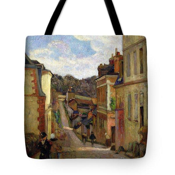 A Suburban Street Tote Bag by Paul Gauguin