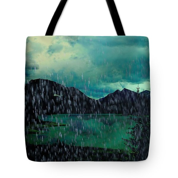 A Sudden Downpour Tote Bag by Shirley Sirois