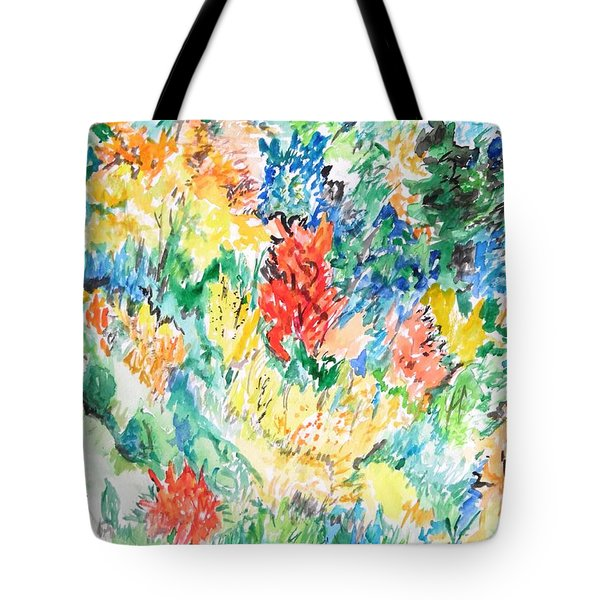 A Summer Garden Frolic Tote Bag by Esther Newman-Cohen
