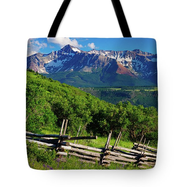 Tote Bag featuring the photograph A Summer In Telluride by John De Bord