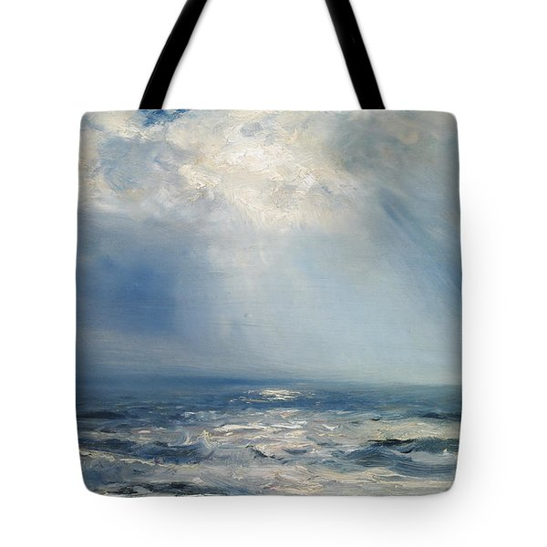 A Sunbeam Over The Sea Tote Bag by Henry Moore