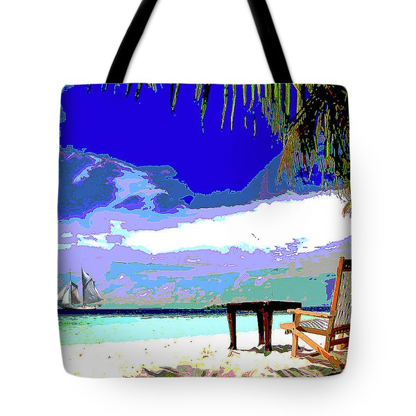 A Sunny Day At The Beach Tote Bag
