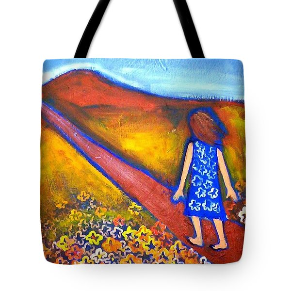 Tote Bag featuring the painting A Sunny Path by Winsome Gunning