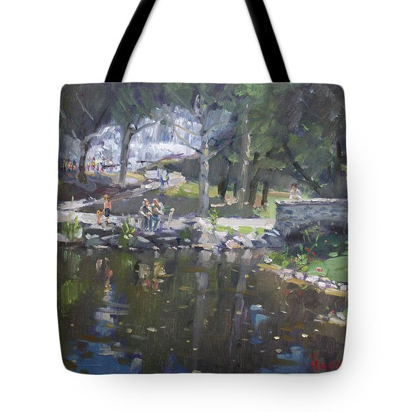 A Sunny Sunday In Williamsville Park Tote Bag