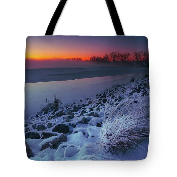 A Sunrise Cold Tote Bag
