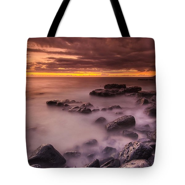 A Sunset At Track Beach Tote Bag