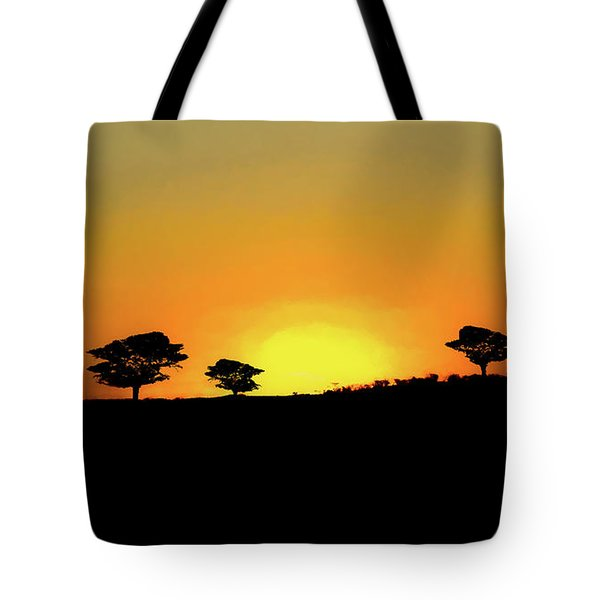 A Sunset In Namibia Tote Bag by Ernie Echols