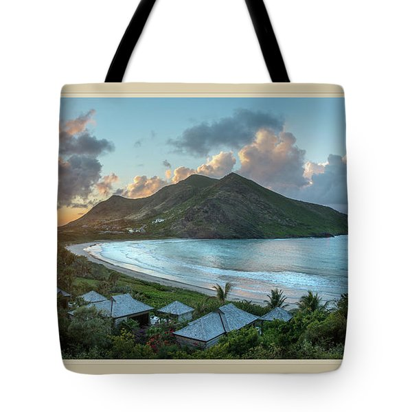 A Sunset On Bay Tote Bag