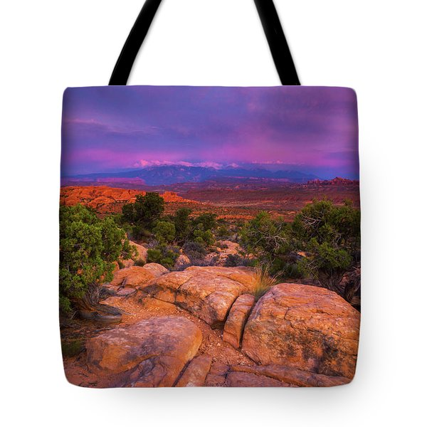 A Sunset Over Arches Tote Bag
