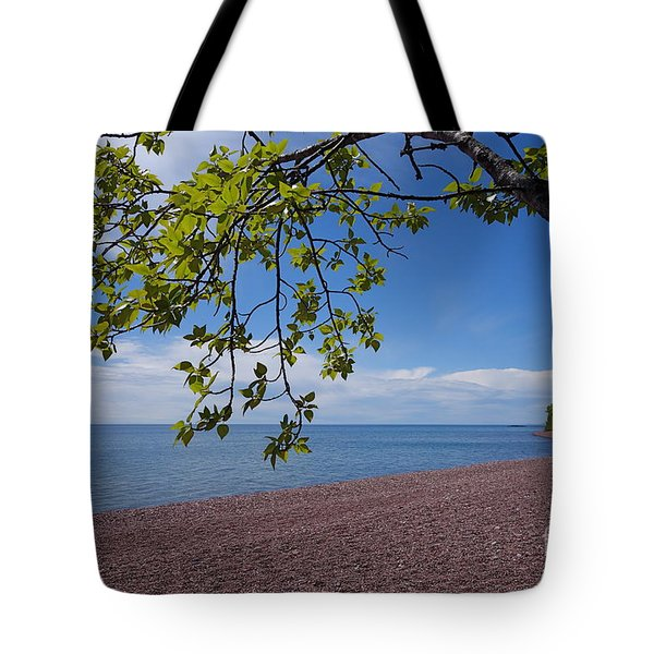 Tote Bag featuring the photograph A Superior Hiking Day by Sandra Updyke
