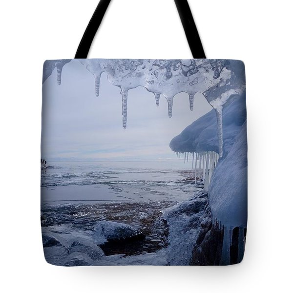 A Superior Ice Cave Tote Bag by Sandra Updyke