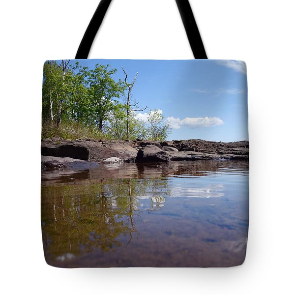 Tote Bag featuring the photograph A Superior June Day by Sandra Updyke