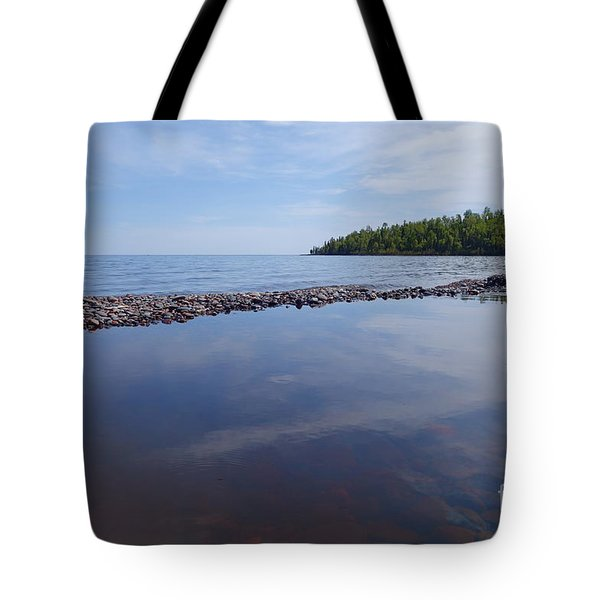 Tote Bag featuring the photograph A Superior Shore by Sandra Updyke