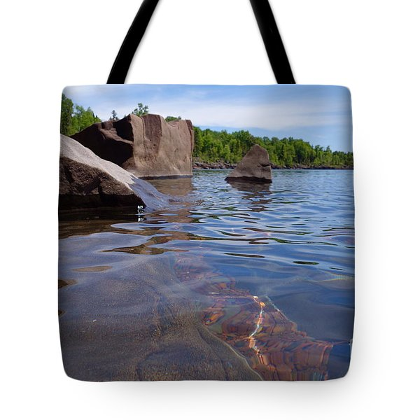 A Superior Shoreline Tote Bag