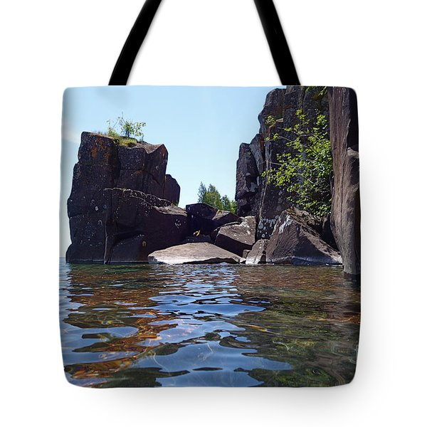 Tote Bag featuring the photograph A Superior Stack by Sandra Updyke