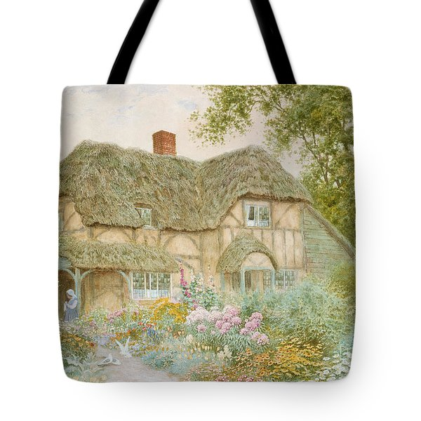 A Surrey Cottage Tote Bag by Arthur Claude Strachan