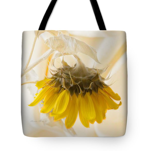 A Suspended Sunflower Tote Bag
