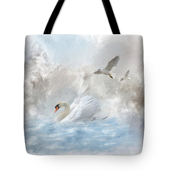 A Swan's Dream Tote Bag by Mary Timman