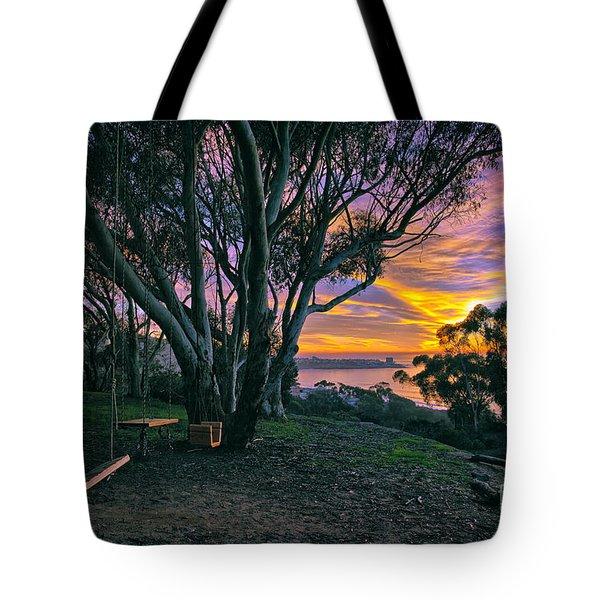 A Swinging Sunset From The Secret Swings Of La Jolla Tote Bag