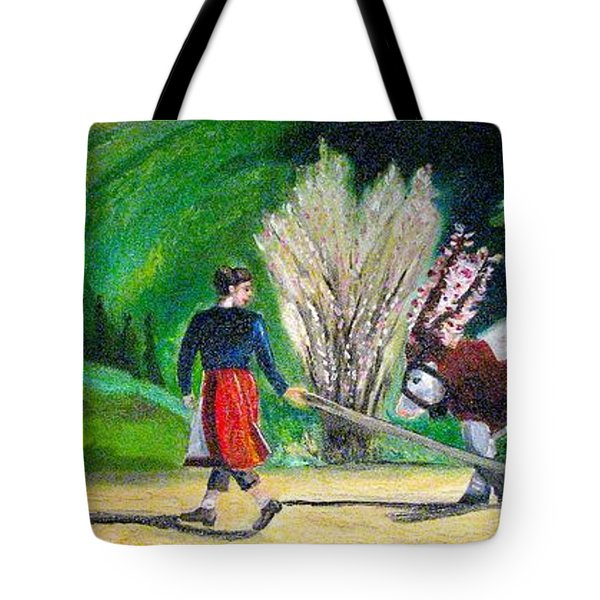Tote Bag featuring the painting  Swiss Girl by Patricia Arroyo