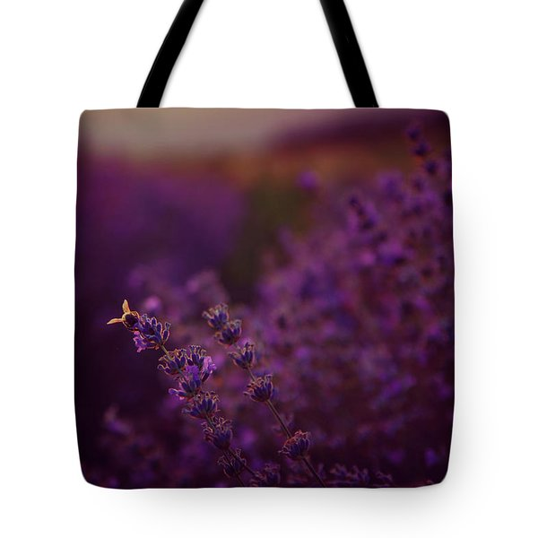 A Tale Of Bee, Lavender And Sunset Tote Bag