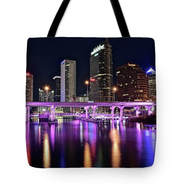 A Tampa Night Tote Bag by Frozen in Time Fine Art Photography