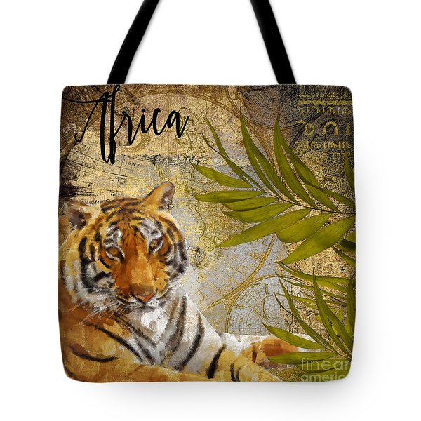 A Taste Of Africa Tiger Tote Bag by Mindy Sommers