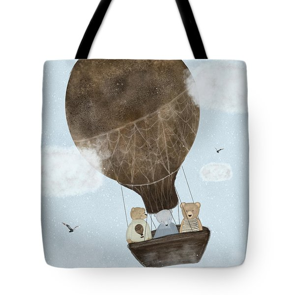 A Teddy Bear Adventure Tote Bag