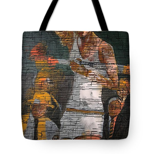 A Tennis Player Tote Bag by Nedunseralathan R