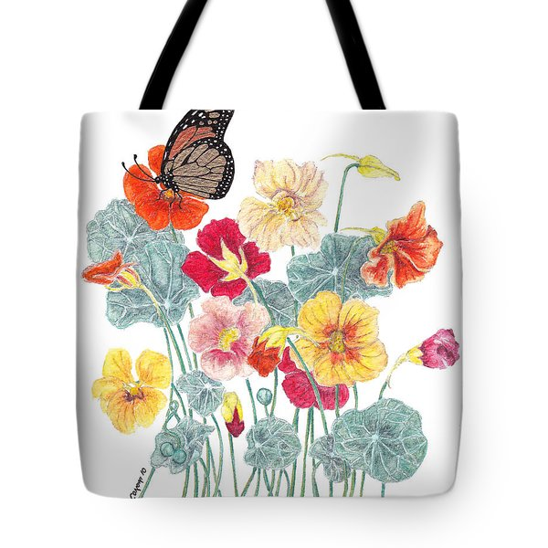 Tote Bag featuring the painting A Tethered Butterfly by Stanza Widen