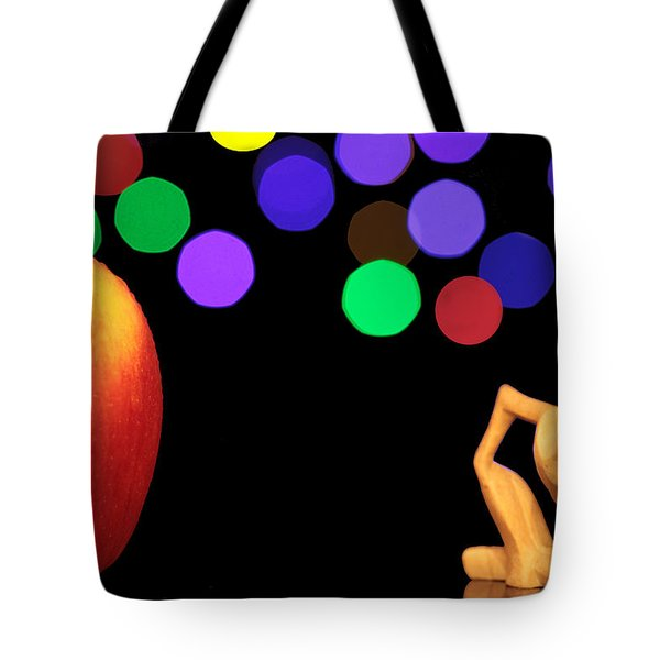 A Thinker In Starry Night Tote Bag by Paul Ge