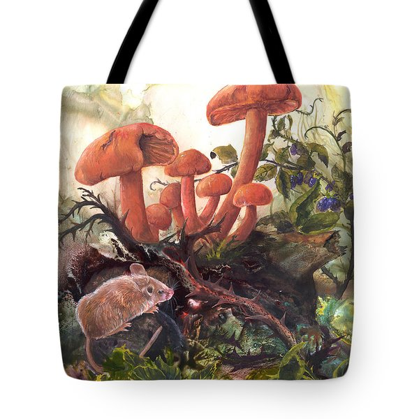 Tote Bag featuring the painting A Thorny Situation by Sherry Shipley
