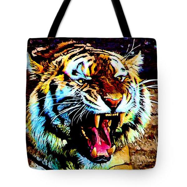 A Tiger's Roar Tote Bag by Zedi
