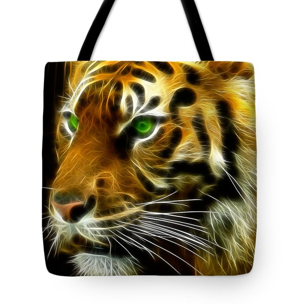 A Tiger's Stare Tote Bag