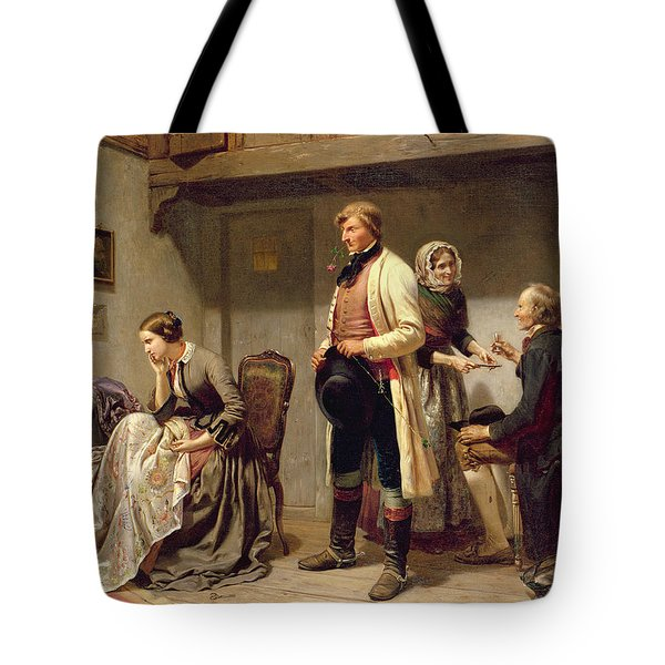 A Toast To The Engaged Couple Tote Bag by Carl Wilhelm Huebner