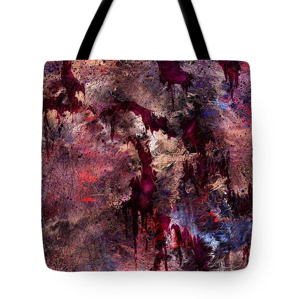 A Tortured Heart Tote Bag by Rachel Christine Nowicki