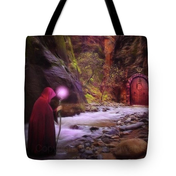 A Touch Of Fantasy - The Road Less Tote Bag by John Edwards