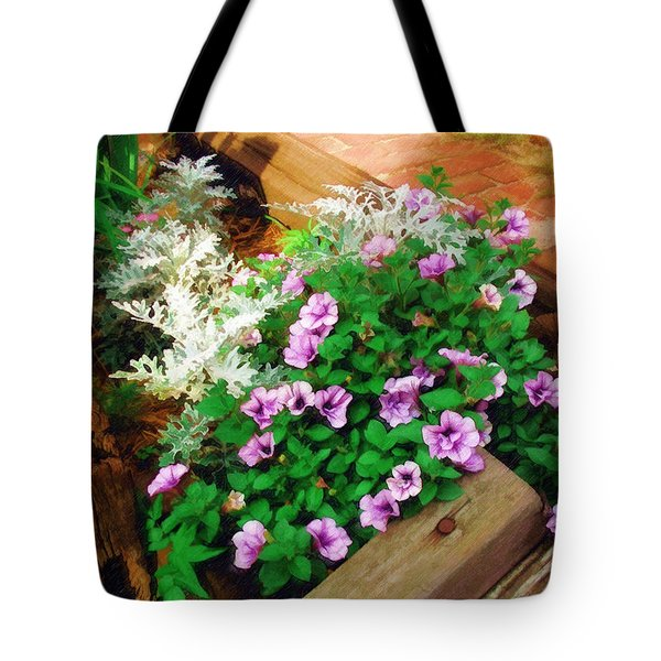 Tote Bag featuring the painting A Touch Of Nature by Sandy MacGowan